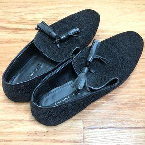 Black Glitter Loafers